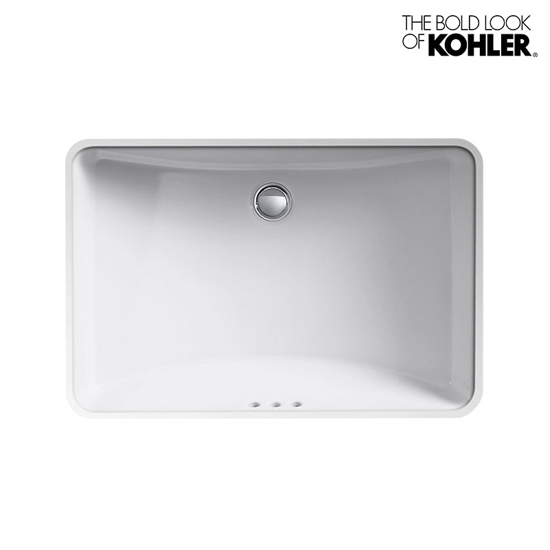 【KOHLER】Ladena/ラデナ アンダーカウンター洗面器 K-2215(W591×D413×H206) 埋込みタイプ 角型 陶器