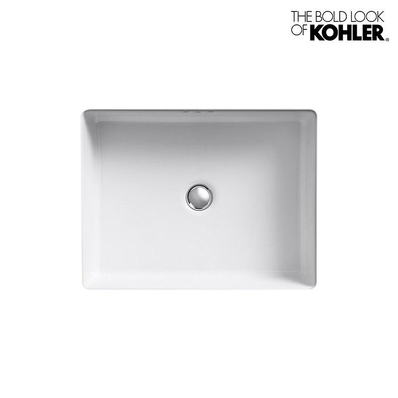 【KOHLER】Kathryn (Under Counter)/キャサリン アンダーカウンター洗面器 K-2330(W502×D397×H159) 埋込みタイプ 角型 陶器