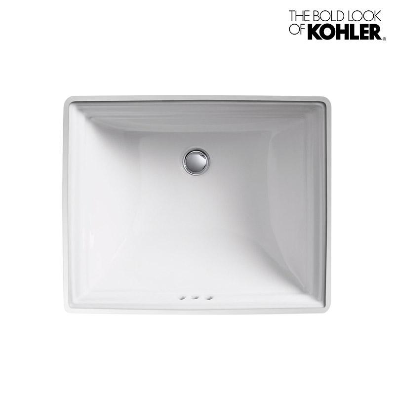 【KOHLER】Memoirs/メモワース アンダーカウンター洗面器 K-2339(W525×D440×H219)埋込みタイプ 角型 陶器