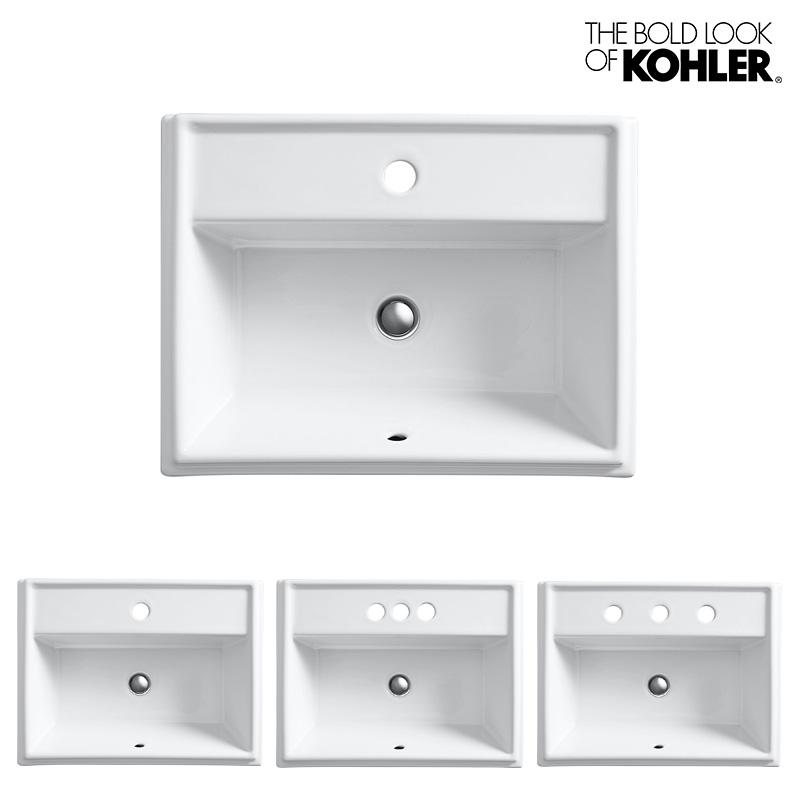 【KOHLER】Tresham/トレシャム レクタングル洗面器 K-2991 (W489×D413×H222)