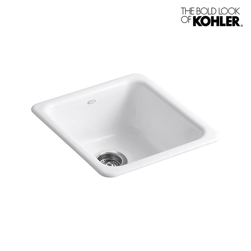 キッチンシンク 【KOHLER】 Iron Tones/アイアントーン (S) 1槽シンク (W432×D476×H210)