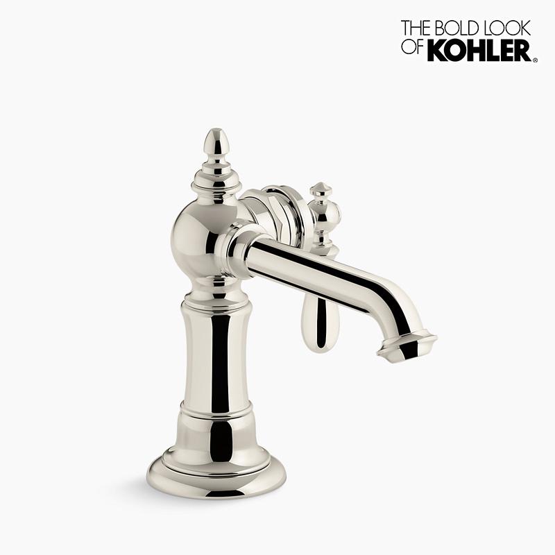 新年度キャンペーン特価 混合栓 【KOHLER】 コーラー アーティファクツ シングルレバー 洗面 水栓 (ニッケル)