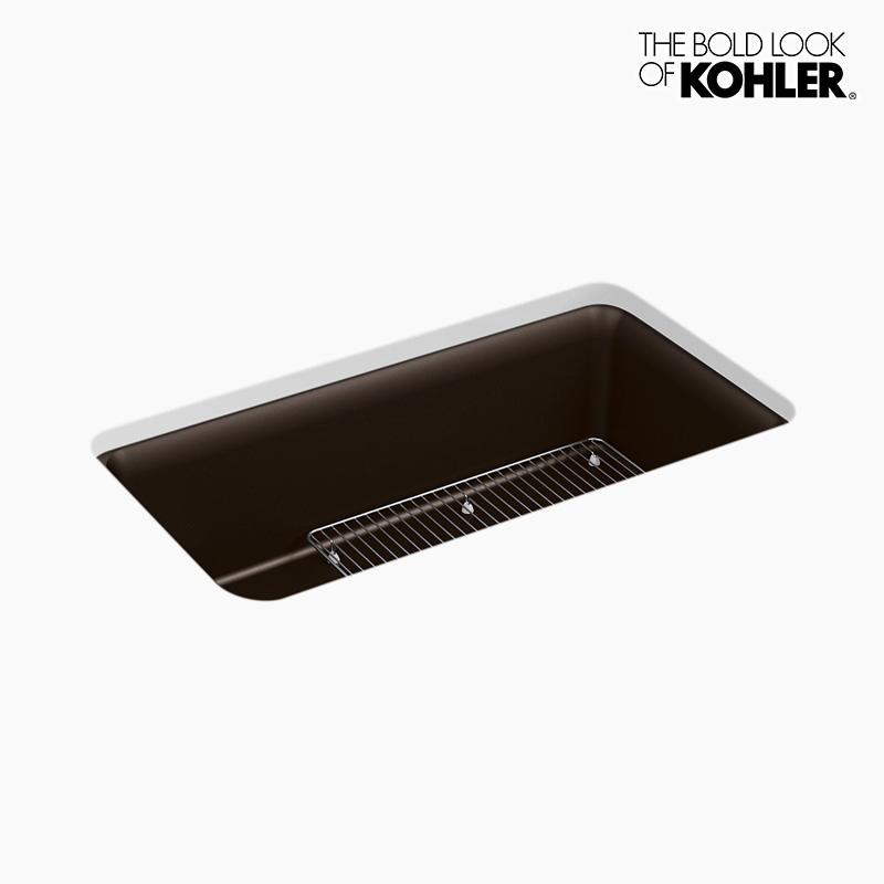 【お取り寄せ】 【KOHLER】  キッチンシンク コーラー 新年度キャンペーン特価 1槽シンク(マットブラウン):個性派水回りショップ パパサラダ ケルン-木材・建築資材・設備