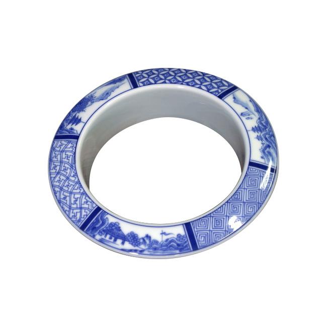 【有田焼】伊万里焼 陶磁器 染付祥瑞 ダストシュートリング ART1-GD014 染付の藍色 キッチン 洗面所 リビングトイレ 手洗い ダストシュート