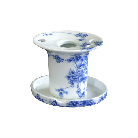 【有田焼】伊万里焼 染付大正ロマン 歯ブラシ立て ART3-GD006 洗面所 トイレ 手洗い場 歯ブラシスタンド 歯ブラシホルダー 小物