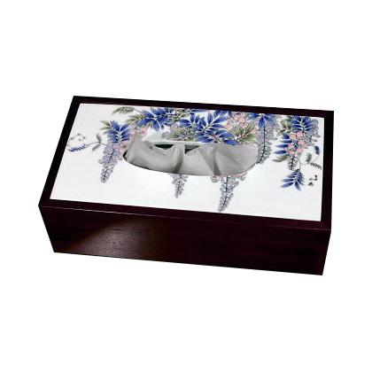 有田焼 伊万里焼 陶磁器 陶器 染付藤絵 ティッシュボックス ART5-GD002 ティッシュペーパーケース 洗面所 手洗い リビング 小物