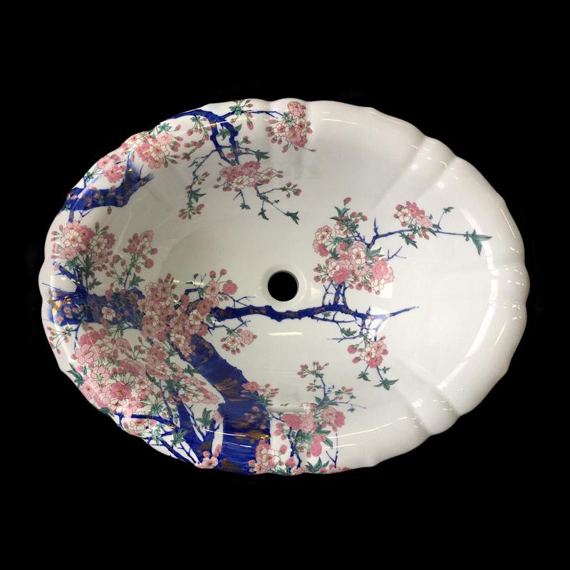 【送料無料】【有田焼】伊万里焼染錦金彩桜絵洗面器(花型)ART2-550425ーH磁器