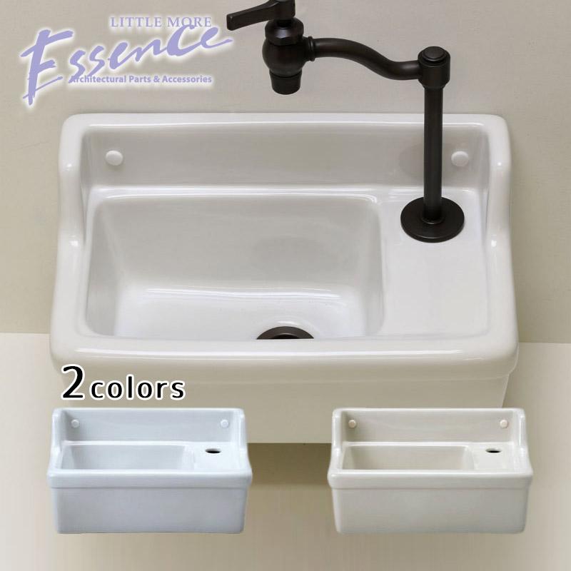 トイレ 手洗い 『1年保証』 省スペース 壁付 壁掛け 売買 手洗器 手洗鉢 単水栓用 Essence 選べる2色 立水栓用 Sレクタングル 手洗い器 手洗い鉢 エッセンス