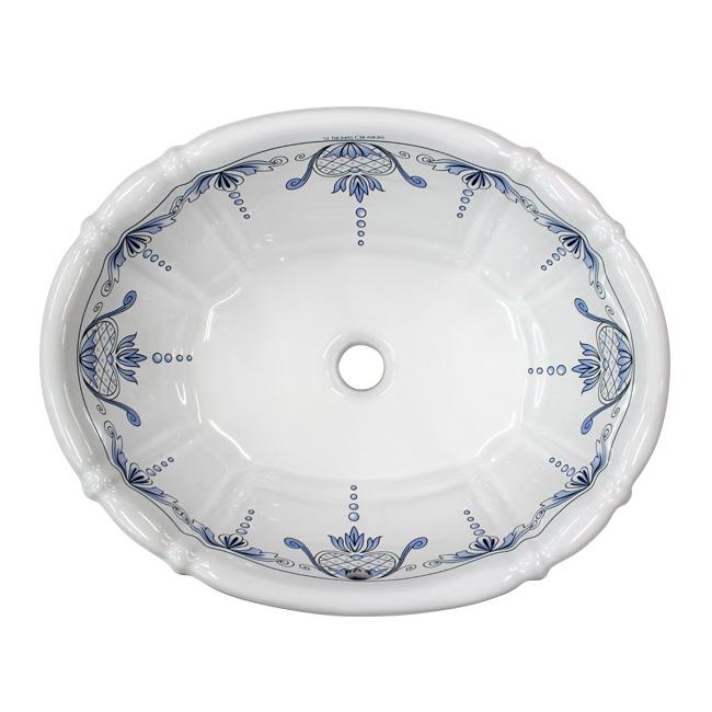 洗面ボール【St.Thomas Creations】アンティガ・SE・ブルー&ブラック |ヨーロピアン洗面ボール。混合栓と一緒に