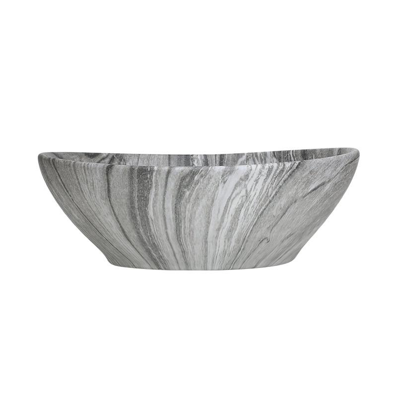 洗面ボウル おしゃれ 置き型 陶器 洗面ボール マーブル 洗面台 洗面所 アンティーク (W405×D330×H145)