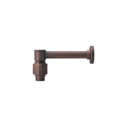 水栓金具はおしゃれに出来る、デザインのいい蛇口 【Essence】横方寸L 単水栓(ブロンズ) (L150.2×H70.8/吐水口) E442022