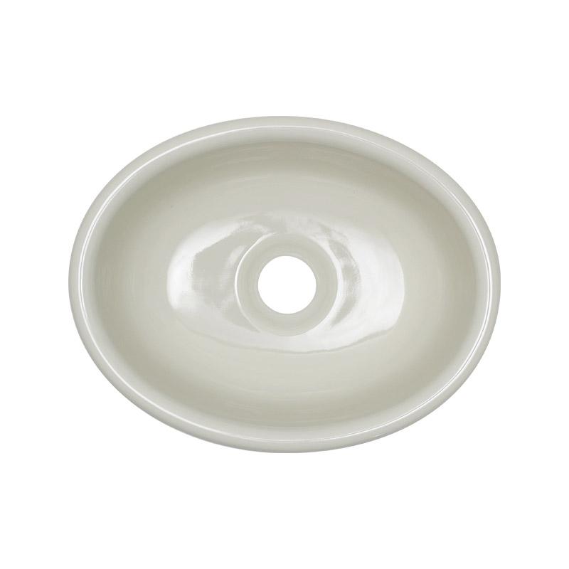 【期間限定特価】オンリーワンクラブ 陶磁器手洗器 スロウカラーズ Sオーバル 亜麻(あま)色 IB4-E350020