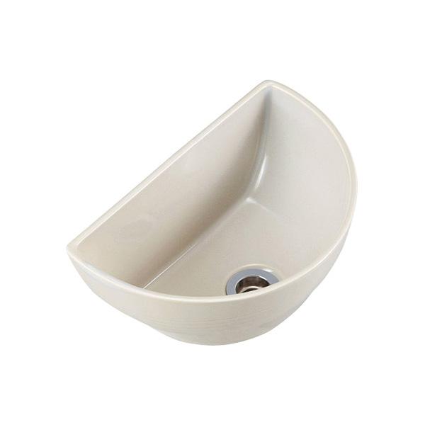 【期間限定特価】オンリーワンクラブ 手洗器 クレセント 灰白(はいじろ) IB4-E381030