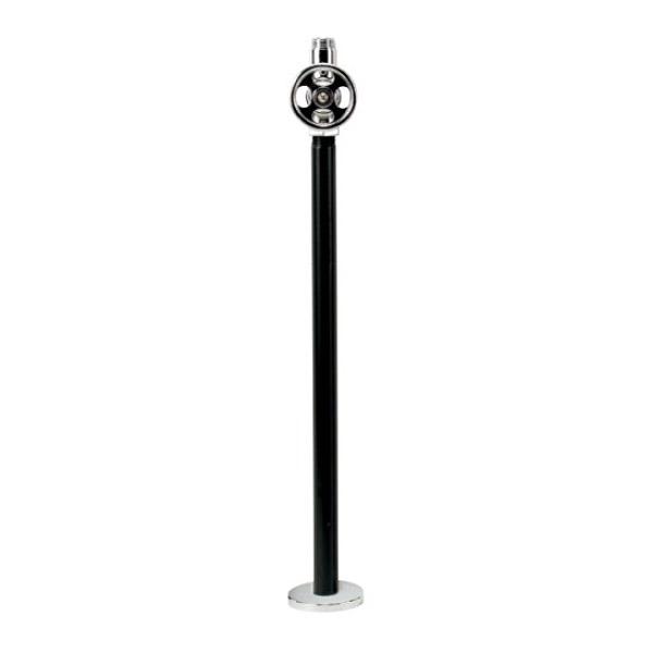 【期間限定特価】オンリーワンクラブ 給水部品 理科型ストレート止水栓(床給水) クローム IB4-EP17180