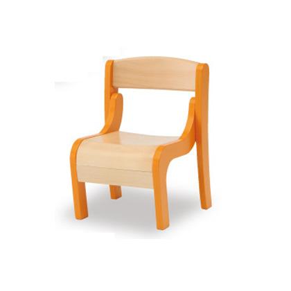 【omoio オモイオ】KS-FY-O キッズ専用チェアフィリア(オレンジ)(旧アビーロードAS-041O) キッズチェア 子供椅子 木製 キッズルーム 待合室 子ども部屋 託児所 幼児 子ども用
