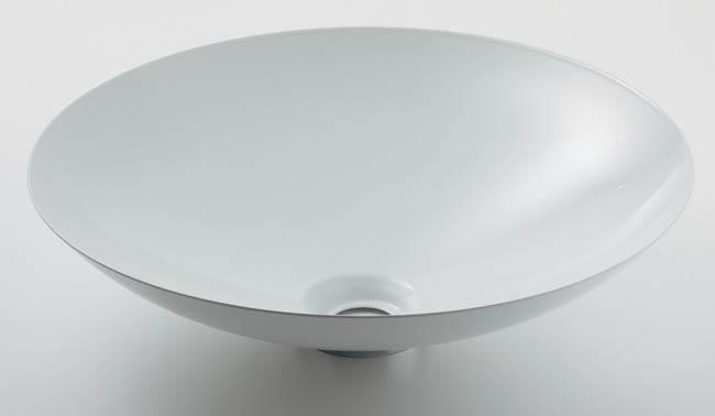 493-045-W ホーロー洗面器(ホワイト)|ホーロー製洗面器