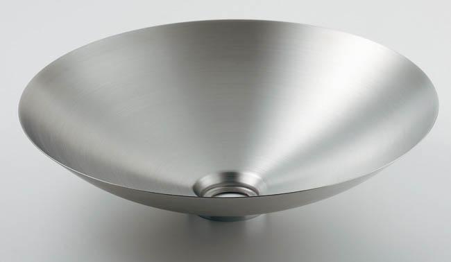493-044 ステンレス洗面器(ヘアライン仕上げ)|ステンレス製洗面器