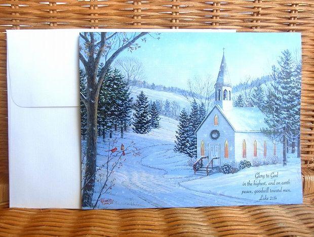 ブルーベースの綺麗なクリスマスカード LANG 売れ筋 新品 ラング クリスマスカード Country Cheer