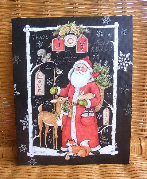 直送商品 スーザンウィンゲットの素敵なクリスマスカード LANG ラング クリスマスカード ウッドランド 直営店 Santa Christmas クリスマス WoodLand