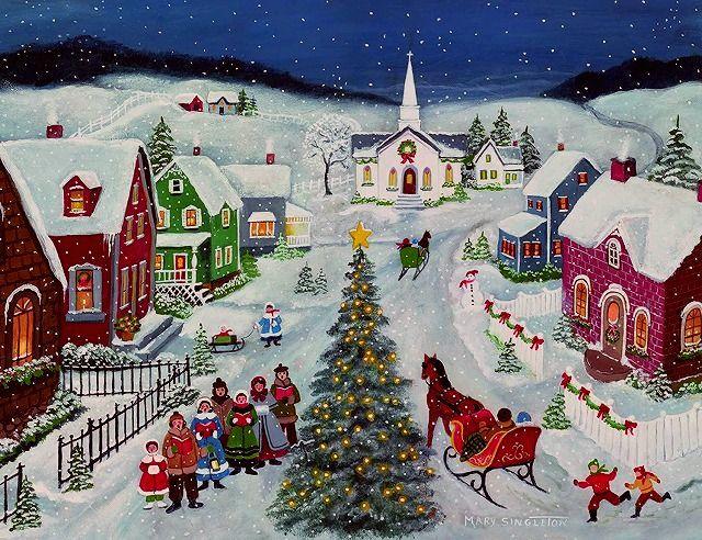 待望 フォークアートのクリスマスカード LANG 低価格化 ラング クリスマスカード Night Silent フォークアート