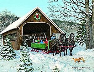 クラシカルな馬車柄のクリスマスカード セール価格 LANG 送料無料でお届けします ラング Sleigh Ride クリスマスカード馬車