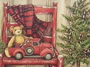 公式ショップ Susan Wingetのクリスマスカード LANG ラング Bear Chair In ついに再販開始 クリスマスカード