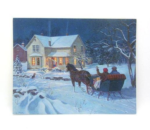 一面ブルーの素敵なクリスマスカード 商店 LANG 売却 ラング クリスマスカード クリスマス Eve Christmas イブ