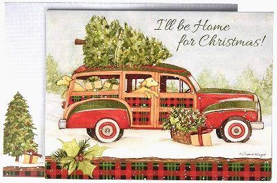 オンラインショッピング スーザンウィンゲットの可愛いクリスマスカード LANG ラング クリスマスカード Home For 商い Christmas