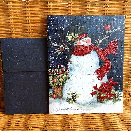 スーザンウィンゲットのクリスマスカード LANG ラングクリスマスカード スノーマン スカーフ 新作製品、世界最高品質人気! Snowman Scarf 卓抜