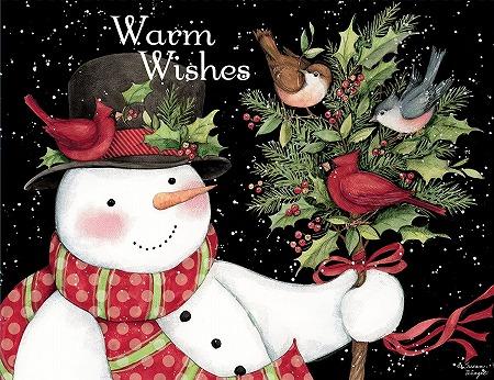 新品未使用 スーザンウィンゲットのクリスマスカード LANG ラングクリスマスカード スノーマンとお友達 and Friends Snowman 定番キャンバス