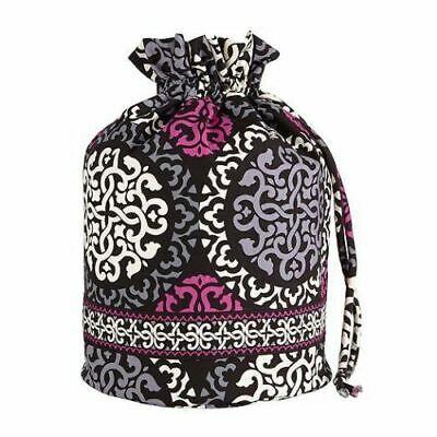 低価格 内側がビニール素材の便利なバッグ 残1個 Vera Bradley 限定特価 ヴェラ ブラッドリー巾着バッグDitty Canterberry Bag Majenta