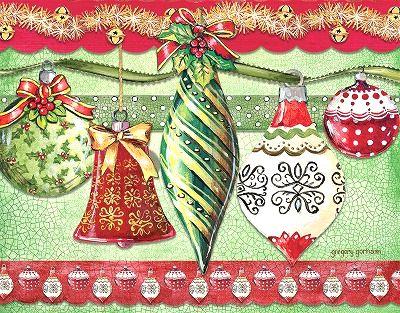 品質保証 オーナメント柄のクリスマスカード LANG ラング クリスマスカード オーナメント Joy Tidings Of 永遠の定番モデル