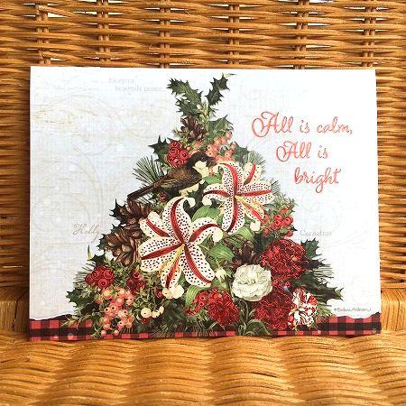 お花の美しいクリスマスカード LANG ラング 好評 クリスマスカード Festive クリスマス飾り Botanicals おすすめ特集