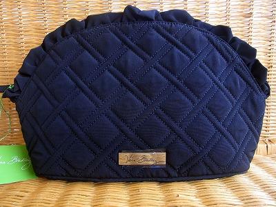 セカンドバッグにもなるラージコスメポーチ Vera Bradley ヴェラ ブラッドリーコスメポーチ ラージ Black 本物 Ruffle Cosmetic 新発売 マイクロファイバーLarge BagClassic