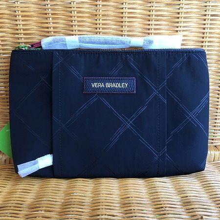 スタイリッシュで便利なリストレット Vera Bradley ヴェラブラッドリープレッピー リストレット Preppy WristretWristret 定価 未使用品 Poly Black クラッチバッグ