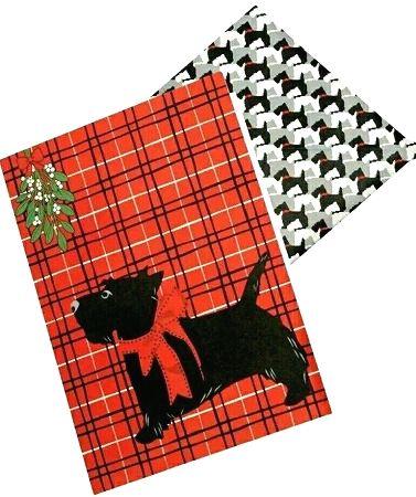 スコッチテリアの可愛いカード Vera Bradley 激安☆超特価 クリスマスカードScottie 定番 Dog ヴェラブラッドリー