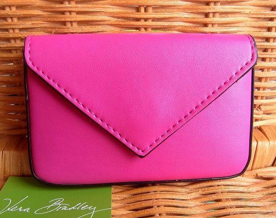 人気海外一番 スタイリッシュなカードケース Vera BradleyヴェラブラッドリーフェイクレザーのカードケースFaux Leather Card 10P05Nov16 Envelope 驚きの値段 CaseFuchsia