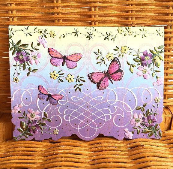 美しいチョウの多目的カード 新入荷 Carol Wilson Charlottes 海外限定 チョウ 多目的カード キャロルウィルソン 大幅にプライスダウン