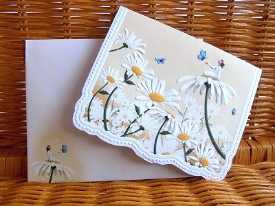 新作 ◆高品質 デイジー妖精の可愛いカード New Carol Wilson キャロルウィルソン多目的カードLady Daisy on