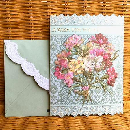 セール アメリカより直輸入 豪華なバースディカード Carol Wilson バースディカード大判 海外限定 キャロルウィルソン carnations colorful