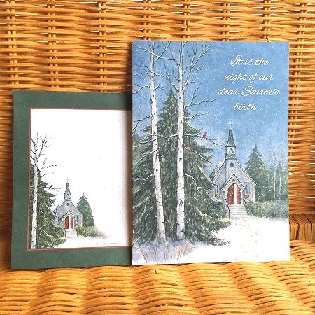 アメリカより直輸入 出荷 素敵なクリスマスカード USA Legacy レガシー THE クリスマスカード PINES IN 返品交換不可 CHURCH