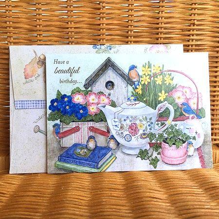 正規取扱店 アメリカより直輸入の美しいグリーティングカード 新品 送料無料 USA Legacy レガシー Grandma's バースディカード ティーポット Tea