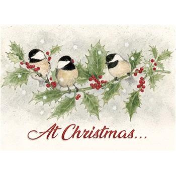 人気アーティストのクリスマスカード USA Legacy レガシー クリスマスカード 超美品再入荷品質至上 on 賜物 Holly the Coal tit
