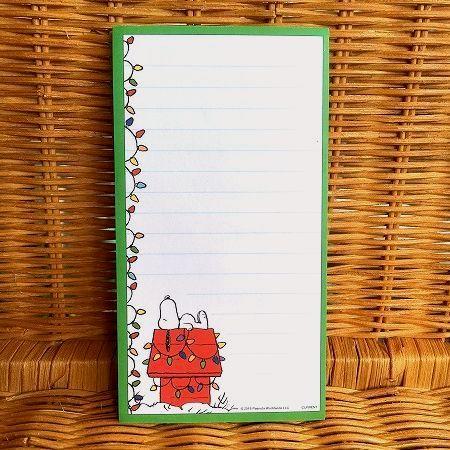 スヌーピーの可愛いノートパッド 限定数のみ入荷 スヌーピー ノートパッド Christmas 電飾 爆買い送料無料 全商品オープニング価格 クリスマス decoration