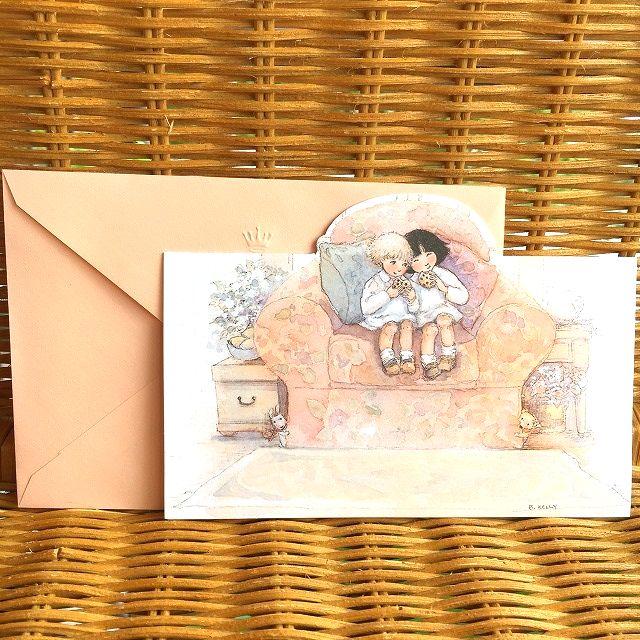 可愛い女の子の多目的カード レア 在庫わずかUSA メーカー直送 多目的カード 感謝価格 仲良しの二人 ホールマーク
