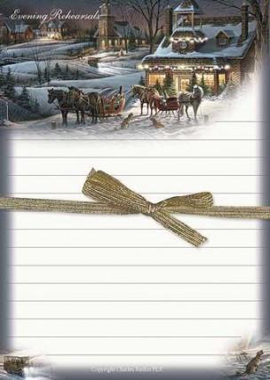 USAの著名なアーティストのノートパッド 限定数のみ入荷 ファクトリーアウトレット Terry Redlin Evening 送料無料/新品 ノートパッド Reheasals