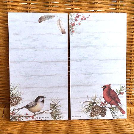 スーザンウィンゲットのリストパッド 特売 スーザンウィンゲット ミニリストパッドセットC Woodland 森の小鳥たち 人気ブランド多数対象 Cardinal