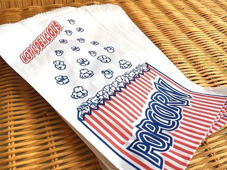 ポップコーンの可愛い紙袋 店内限界値引き中 セルフラッピング無料 アメリカ製 新作製品、世界最高品質人気! 紙袋 ポップコーン袋 マチなし