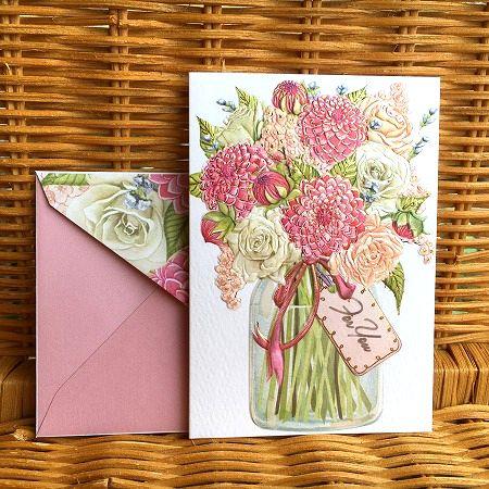 贈与 上質紙使用の美しいカード NEW ARRIVAL 限定数のみ入荷 USA グラスのお花 ノートカード Pictura