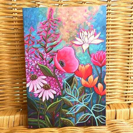 アメリカより直輸入 鮮やかなお花のカード 限定数のみ入荷 Tree 多目的カード 年中無休 上品 Free ポピー
